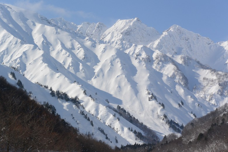 Mountain for freeride in Japan
