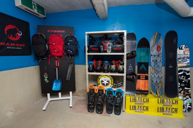 Ski and snowboards to rent