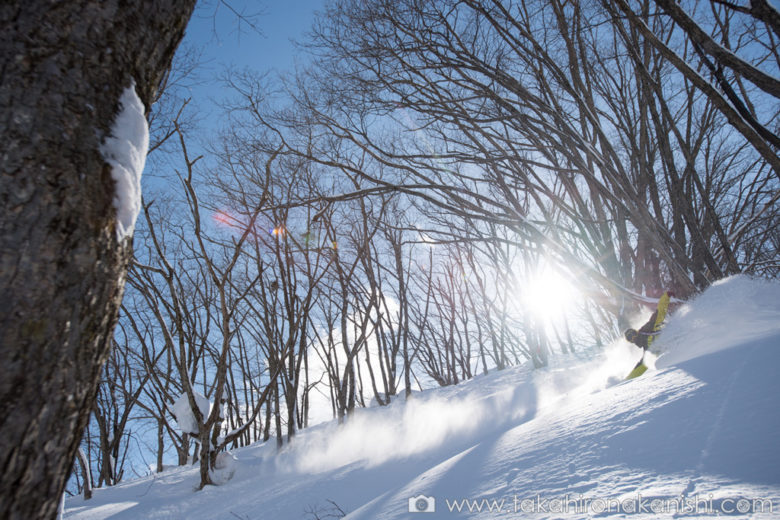 Powder turn on Wakaguri slopes – Hakuba-Norikura, Japan