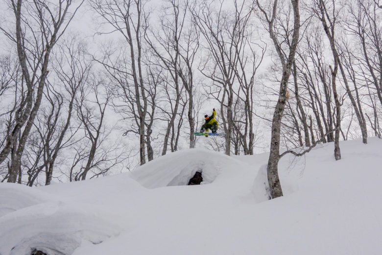 umping massive pillows on my snowboard in Hakuba forest. Still many untouched secret zones we won't tell anybody about... – Hakuba-Valley, Japan