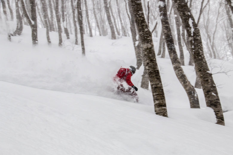 Another of those ultra-deep powder days riding in the storm – Hakuba-Cortina, Japan